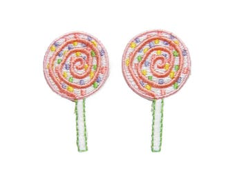 Lollipop Patches Mini Patches Applique Embroidered Iron on Patch