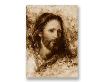 "Jesus Christ Art Print ""Merciful Savior"" by Artist Jared Barnes"