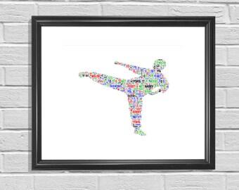Taekwondo figure - Personalised Print