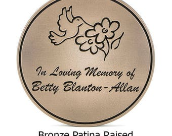 Round Hummingbird Memorial Plaque 12 inch diameter Custom Sign by Atlas Signs and Plaques