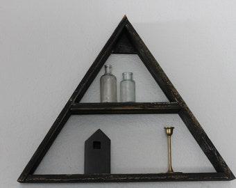 Triangle Shelf, Wood Shelves, Reclaimed Wood Shelf,Essential Oil Shelf,Succulent Shelf,Rustic Triangle Shelf,Reclaimed Wood Triangle Shelf
