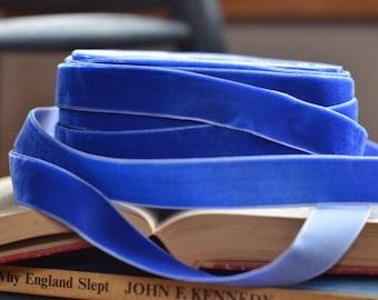 """cobalt blue 3/4"""" velvet ribbon"""