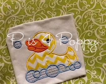 rubber ducky applique design instant download