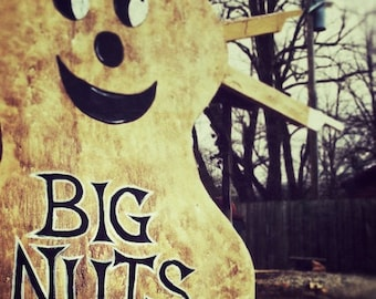 Boiled Peanuts Sign, Big Nuts, Kitchen Art, Quirky Art Photography