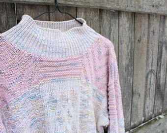 Pink Pastel Multi-Color Sweater