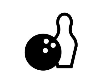 Bowling Custom Die Cut Vinyl Decal Sticker - Choose your Color and Size