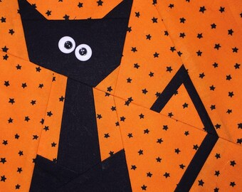 Kit Cat Paper Pieced Block Pattern in PDF