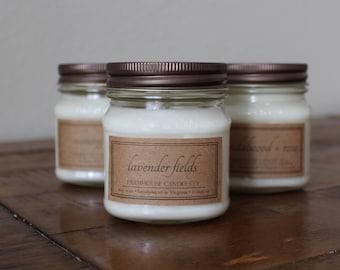 Choose Any Three 8-Ounce Mason Jar Soy Candles