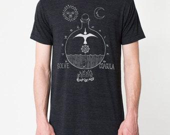 """Triblend """"Solve et Coagula"""" shirt - occult t shirt - alchemy shirt - most comfortable shirt ever!"""