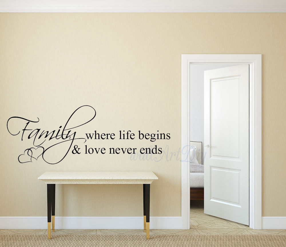 Life Wall Quotes Family Wall Decals Family Wall Quotes Vinyl Family Lettering