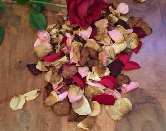 8oz Dried Rose Petal Hay Topper Treat For Rabbits, Guinea Pigs, and Small Animals