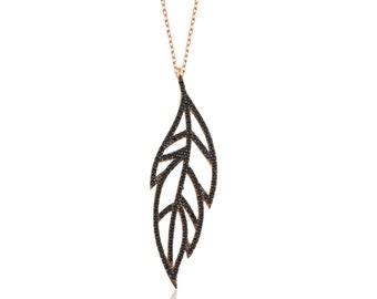 Silver Oak Leaf Necklace - IJ1-1597