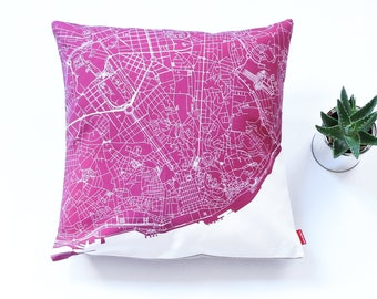LISBON Map, Throw pillow for your home decor,  Map of LISBON Cushion Cover, Custom Wedding Pillow Cover, anniversary gift, Colorful Pillow