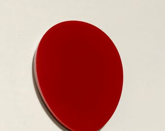 Large red balloon brooch