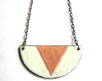 Geometric Enamel Necklace