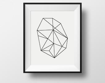 mid-century all print, Minimalist Art, Geometric Prints, black and white, Abstract Art, Contemporary Art, black and white prints
