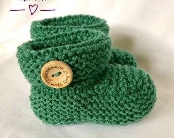 Baby booties, Booties, Knitting pattern, PDF, Digital Download, Gender neutral, Boys, Girls, Sizes 3-12 months