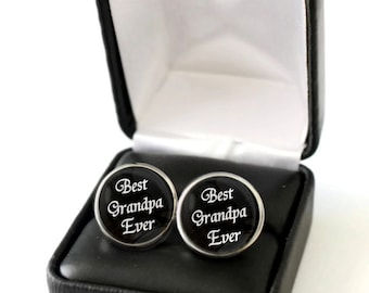 First Fathers Day Gift for Grandpa, Best Grandpa Gift, Father's Day Gift for Grandfather, Grandfathers Day Gift, Grandpa Cufflinks Stainless