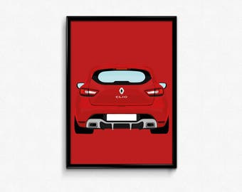 Renault Clio RS A3 Print