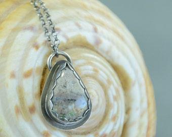 Silver Pendant, Ocean Jasper Pendant, Jasper Necklace, Silver Necklace, Sterling Silver Pendant, Jasper Pendant, Pendant Necklace,