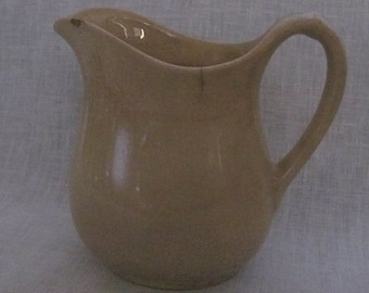 Antique White Granite Pitcher by W.S. George