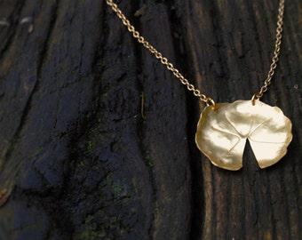 Golden Lily Pad pendant