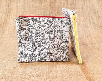 Dog Coloring Pencil Case, Dog Pencil Pouch, Dog Mom Gift, Tween Girl Gift Birthday, Adult DIY Kit, Pre Teen DIY Gift, College Student Gift