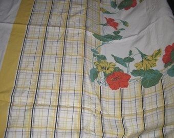 "Vintage table cloth  48"" x 52"""
