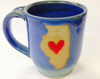 State Mug-  Big Heart in the Middle of the State.