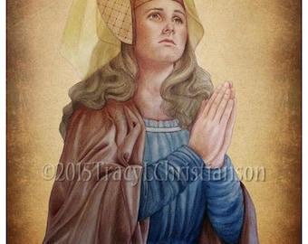St. Emma (Hemma) of Gurk Print, Catholic Art #4210