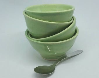 Handmade pottery dip bowl ceramic handthrown serving bowl for dips chutneys & jams gift for house warming or anniversary