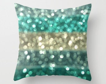 Blue Ombre Ocean Pillow Colors Of The Water Blues Marine Decor Sweet Things Sparkle Pillow Cover Beach Cottage In The Sea