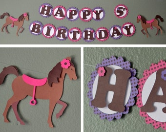My Little Pony Birthday Banner, or Baby Shower Party Decoration,  Horse Decor - CUSTOM Message