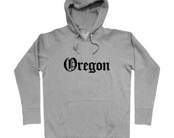 Oregon Gothic Hoodie - Men S M L XL 2x 3x - Gift for Men, Her, Portland Hoody, Eugene Hoody, Salem Hoody, Gresham Hoody, Hillsboro Hoody