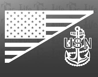 US Flag  / USN (Navy) - Vinyl Decal