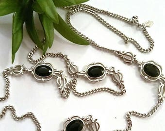 Vintage Silver Black Necklace, Sarah COVENTRY Jewelry, Accessories, Fashion Jewelry, Boutique