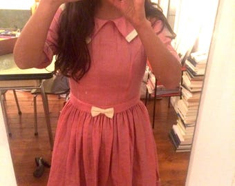 Pink dress with cute bow Ysterike