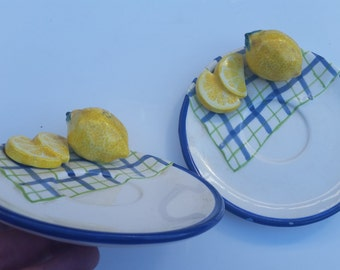 Vintage Bella Casa by Ganz Lemon Saucer / Saucers / Lemons / Lemon / Bella Casa / Ganz / by Ganz / Fruit / Decor / Country Kitchen / Kitsch