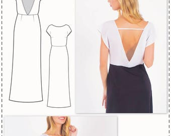 Gown Pattern - Maxi Dress Pattern - Evening Dress Patterns - Gown Sewing Patterns - A Line Dress Pattern - Sewing Tutorial