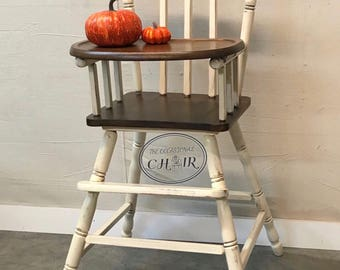 Wooden High Chair Etsy