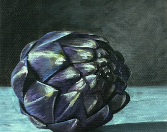 Artichoke Painting // Vegetable Painting // Acrylic Print // Acrylic Painting // boyfriend gift // coworker gift // best friend gift