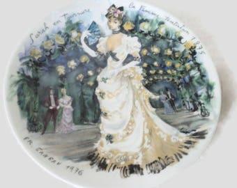 Limoges Women Of The Century Collectors Plate Sarah en Tournure