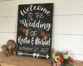 Rustic Wedding Sign - Welcome Wedding Sign - Wood Wedding Sign - Custom Wedding Sign - Rustic Wedding Decor