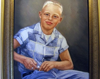 Beautiful early 1960's portrait of boy with pocketknife