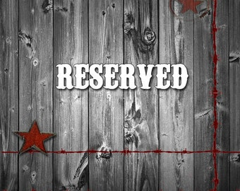 Reserved For Debby ~ Large Brass Stencil C and J, 16 Inch Brass Letter