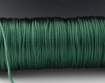 10 yards 2mm Hunter Green (Dark Green) Satin Rattail Cord