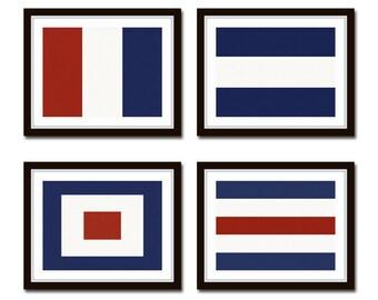 Maritime Signal Flags Set No. 3, Coastal Decor, Giclee, Art, Beach Cottage Decor, Coastal Art, Wall Art, Art Print, Nautical Art