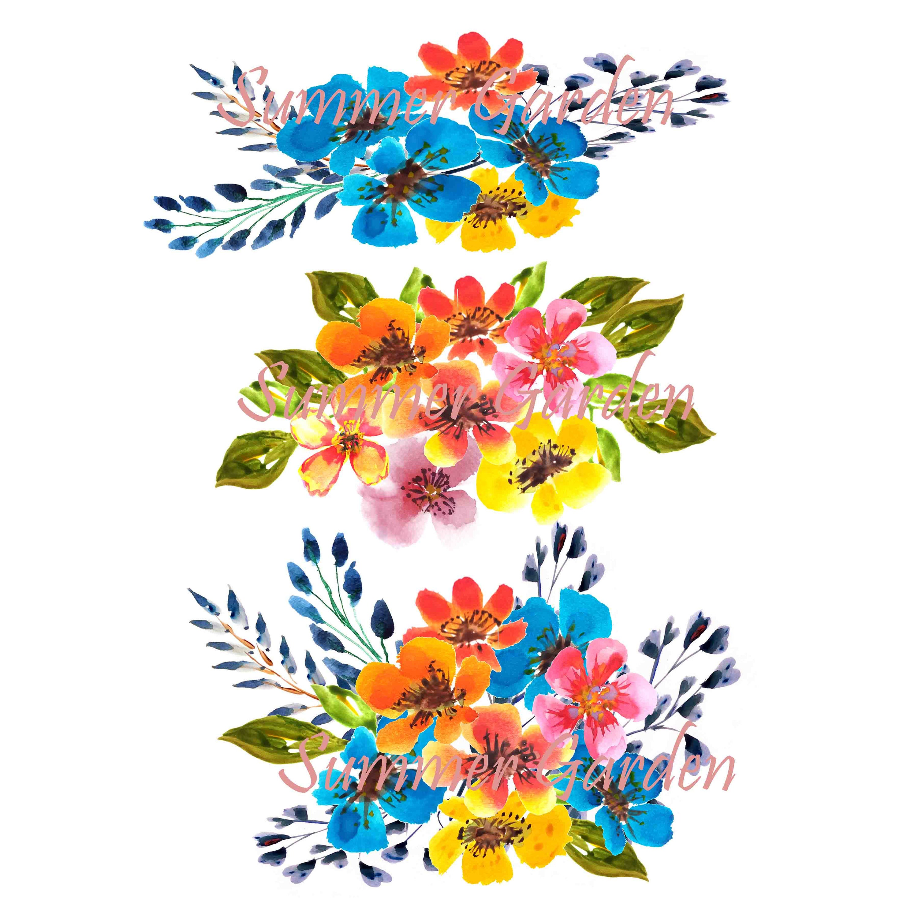 separate flowers clipart wildflower clipart 15 summer flower rh etsystudio com wildflower clipart free wildflower clipart free