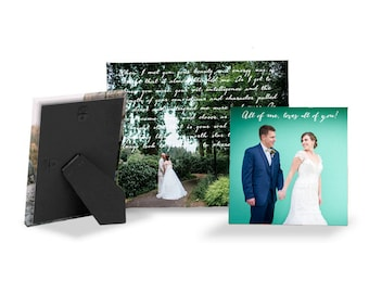 First anniversary gift, personalized canvas with easel, anniversary gift for her, anniversary gift for him, christmas gift, valentines day