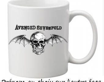 Avenged Sevenfold mug with name choice